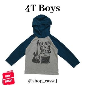💙5/20💙 4T Boys Calvin Klein Hooded Top